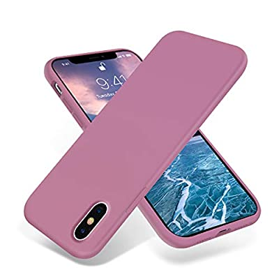 OTOFLY Liquid Silicone Gel Rubber Full Body Protection Shockproof Case for iPhone Xs/iPhone X?Anti-Scratch&Fingerprint Basic-Cases?Compatible with iPhone X/iPhone Xs 5.8 inch (2018), (Lilac Purple)