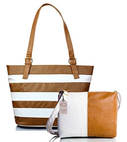 Mammon Women's Multicolour Synthetic Handbag and Sling Bag Combo
