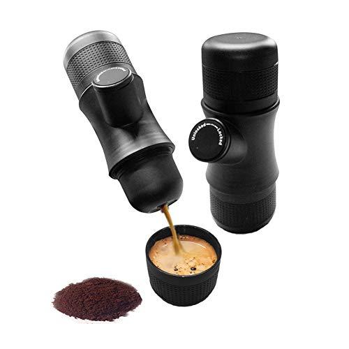 YA&NG Tragbare Espresso-Maschine, Hand gedrückt Minipresso, Extra Small Travel Kaffeemaschine, handbediente, kompatibel All-in-One für Home Office Travel Outdoor-Camping-
