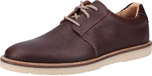 Clarks Grandin Plain, Zapatos de Cordones Derby Hombre, Marrón (Dark Brown Tumbled-), 45 EU