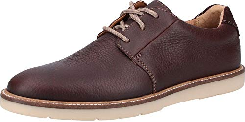 Clarks Grandin Plain, Zapatos de Cordones Derby para Hombre, Marrón (Dark Brown Tumbled-), 43 EU