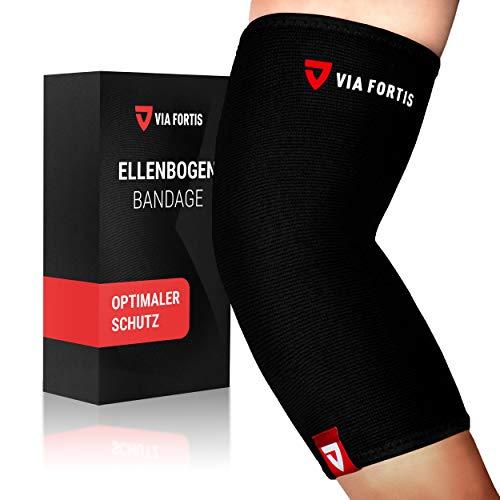 VIA FORTIS® Ellenbogenbandage - stützt Ellenbogengelenk & Muskeln (Unisex) - für Sehnenentzündung - Arthritis - als Tennisarm Bandage - Golfearm
