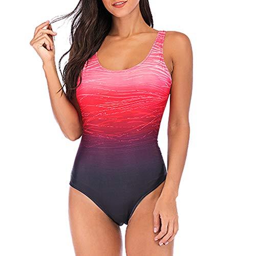Posional Maillots Swimwear Femme 1 Pièce Halter V Back Dos Nu ImpriméRembourré Taille Haute Ventre Plat Sexy Elégant African Essential Endurance Beachwear Ensembles - Rose - S