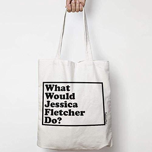 WHAT WOULD JESSICA FLETCHER DO? WWYD leinentasche aus natürlicher baumwolle WAHL VON ZWEI FARBEN MURDER SHE WROTE