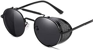Nrpfell Retro Round Metal Sunglasses Steampunk Men Women Brand Designer Glasses Uv Protection-Gold