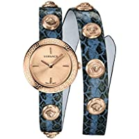 Versace Medusa Stud Icon Quartz Rose Gold Dial Ladies Watch