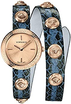 Versace Medusa Stud Icon Quartz Rose Gold Dial Ladies Watch