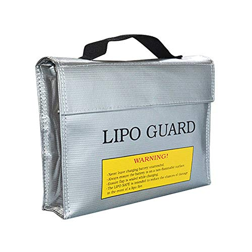 Bestmaple Fireproof Explosionproof Lipo Safe Bag for Charging and Lipo Battery Storage (240x180x65mm)