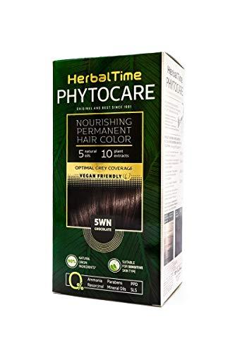 Teinture capillaire permanente et nourrissante sans ammoniaque, sans PPD, sans SLS, sans parabens Couleur 5WN Chocolat