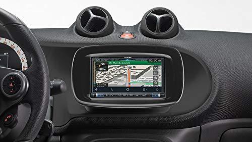 Alpine INE-W720S453B Navigationssystem mit DAB+, 7-Zoll Bildschirm, Apple CarPlay & Android Auto für SMART (453)
