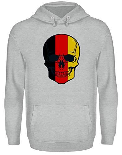 Generisch Belgian Skull - doodshoofd België kleuren - zwart rood goud - zwart rood goud - unisex capuchontrui hoodie