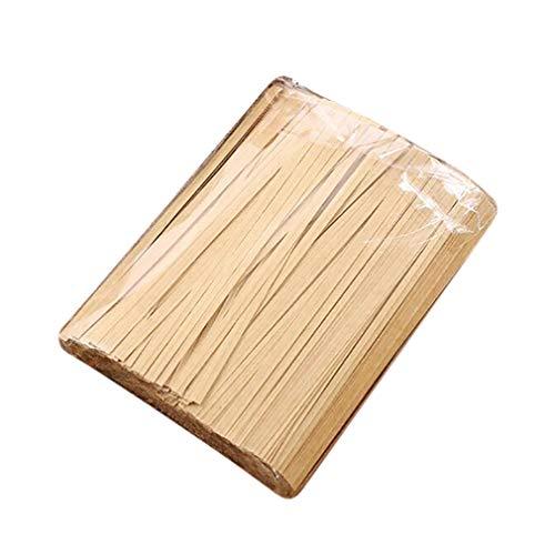 SUNSKYOO Kraftpapier Twist Ties Lebensmittelverpackung Versiegelung Twist Ties für Hochzeitsfeier Cellophan Bäckerei CookiesCandy Taschen Gesundheit und ungiftig