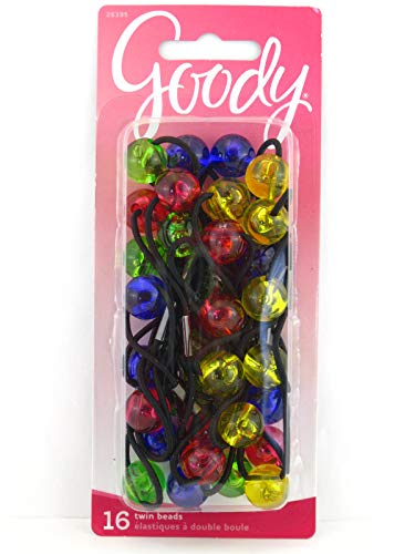 Goody Girls Twinbead Bubble Ponytailers - Assorted Colors - 16 Pcs.