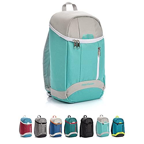 Sac à dos isotherme - Grand sac à dos isotherme - 10 / 20 litres - Pour pique-nique, camping, nourriture, festival - Pour homme, femme, travail, école, randonnée, plage, parc (10 L, bleu clair/gris)