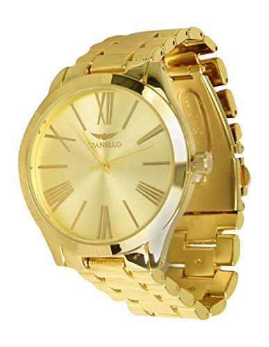 Gianello- Metal Gold Mirror Dial Watch Gold
