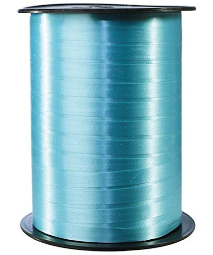 Clairefontaine 601737C Spule Geschenkband glatt (500 m x 7 mm, ideal für Bastelprojekte und Geschenke) 1 Stück türkis
