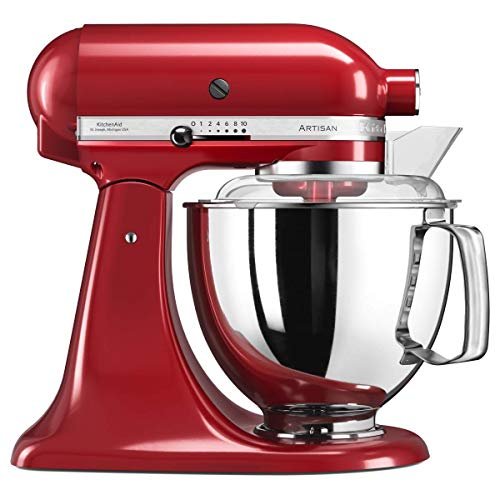 """Kitchenaid 5KSM175 - Robot da cucina """"Artisan"""", rosso imperiale, in metallo, 4,8 l, 36 x 24 x 37 cm"""