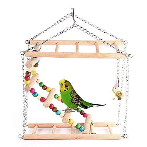 FZQ huisdier vogel speelgoed bijten speelgoed/trappen/schommelen/ophanging brug/zachte brug/twee opknoping dubbellaags speelgoed papegaai hamster kooi decoratie accessoires
