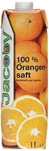 Jacoby Spanischer Orangensaft Direktsaft, 6er Pack (6 x 1 l)