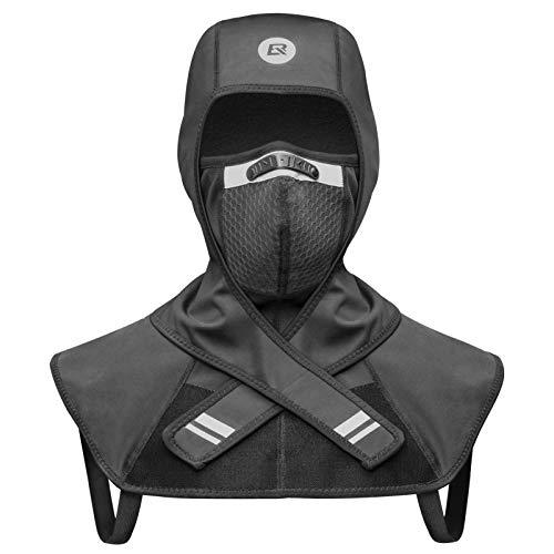 ROCKBROS Sturmhaube Winter Warm Balaclava Multifunktional Kopfbedeckung Winddicht Reflektierend Halswärmer für Skifahren Motorradfahren Radfahren M/L