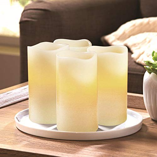 JN Better Homes and Gardens Flameless LED Pillar Candles 4-Pack - Vanilla Scented