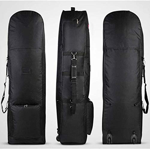 April Story Portable Padded Golf Bag Foldable Golf Golf Aviation Bag Durable Travel Cover Case Double Zipper Lightweight Trolley Golf Travel Bag with Wheels