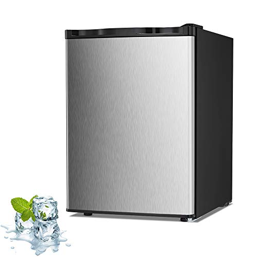 Joy Pebble Upright Freezer£¬2.1 Cubit Feet£¬ Free Standing with Removable Shelf, Adjustalbe Thermostat, Compact Reversible Single Door Vertical Freezers for Home/Hotel/Dorm/Office or Bar