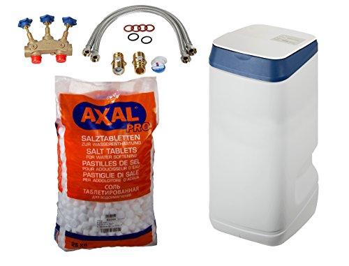 Leyco Wasser-Enthärtungsanlage LEYCOsoft 15 plus 25 kg Regeneriersalz inklusive Anschlusszubehör