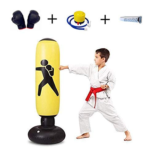 Wghz Inflatable Boxing Punching Bag Fitness Punching Bag Stand-Alone Heavy Duty Punching Bag Fitness Sport Boxing Bag Suitable for Adults and Children, Giving Them The Best Gifts