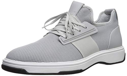 Calvin Klein Men's PHYLL Sneaker, Blue Grey Nylon/Smooth Calf Action, 13 M US