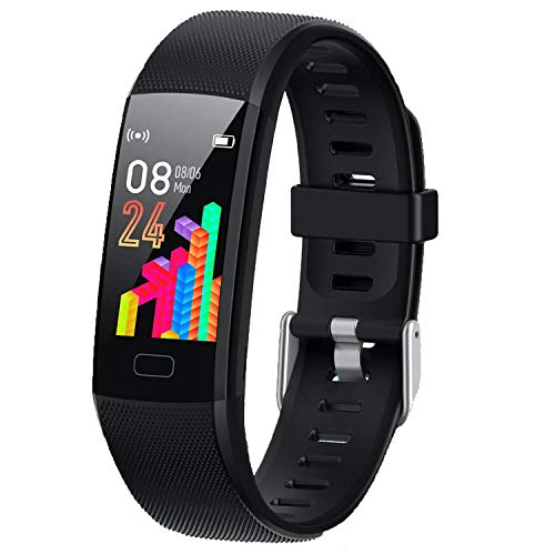 XG Kids Fitness Tracker, New Upgraded Waterproof Activity Tracker Watch for Children, Health Exercise Watch with Heart Rate Sleep Monitor, Pedometer Watch, Calorie Counter (Black)