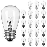 20 Pack S14 Light Bulbs 11 Watt Warm Commercial Grade...