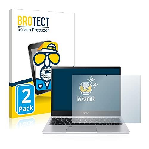 BROTECT 2X Entspiegelungs-Schutzfolie kompatibel mit Acer Spin 3 SP313-51 Bildschirmschutz-Folie Matt, Anti-Reflex, Anti-Fingerprint