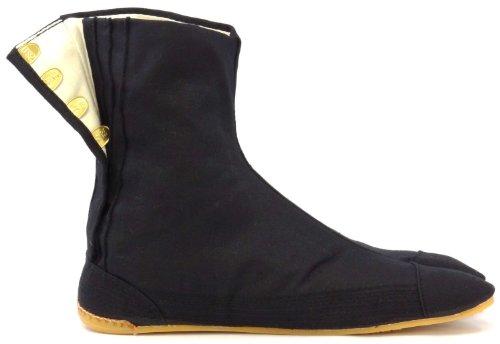 Chaussures de Ninja Confort Semi-montantes Tabi Japonaise Authentique (JP 24 approx. FR 38 EU 38 UK 5)