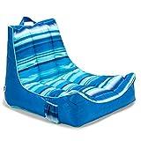 Big Joe Meash Captain's Chair Float, One Size, Blurred Stripe Blue