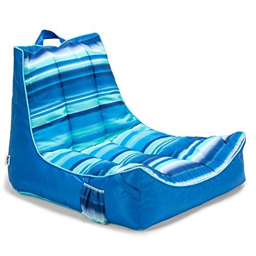 Big Joe Meash Captain s Chair Float, One Size, Blurred Stripe Blue