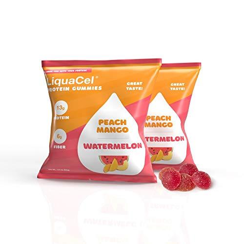LiquaCel Protein Gummies - Peach Mango/Watermelon - 13g Protein - Ten Packs