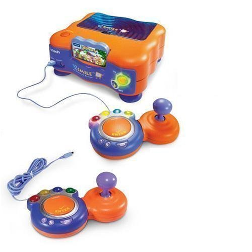 V.Smile Deluxe TV Learning System, Console, 2 Joystick, 1 Smartridges & Adaptor