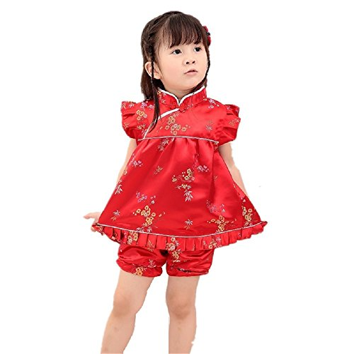 Hooyi Girls Cheongsam Top Dress +Short Pant...
