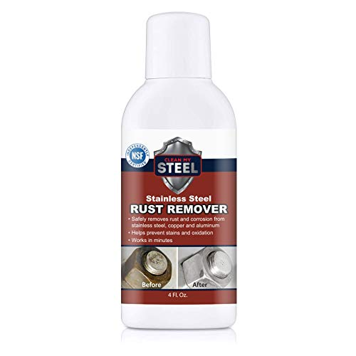 Clean My Steel Stainless Cleaner & Rust Remover - Works in Minutes (4 oz)