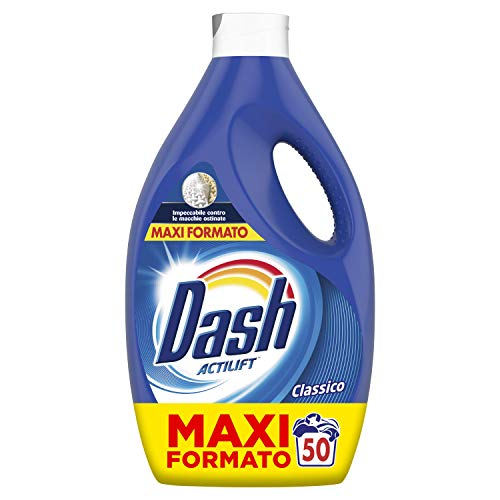 Dash Detersivo 50 lavaggi Detersivo Lavatrice Classico, Impeccabile contro le macchie...