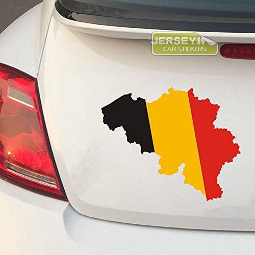 SUPERSTICKI België Conscheur vlag fan 15 cm sticker autosticker, wandtattoo professionele kwaliteit voor lak, ruit, etc. wasstraatbestendig