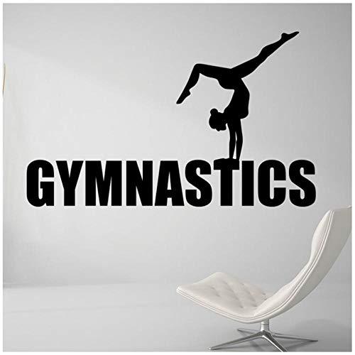 Gymnastik Mädchen Yoga Wandaufkleber Wohnzimmer Dekoration Sport Gym Sport Kunst Poster Tanz Wandkunst Wandbild 42x66cm