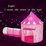 2In1 Tipi De Carpa De Piscina Habitación De Juego De Juguete para Niños Tienda De Campaña De Plegable Túnel De Rastreo Interior Fluorescencia 2 Sets (Rosa),Rosado,yurt 105 * 135cm