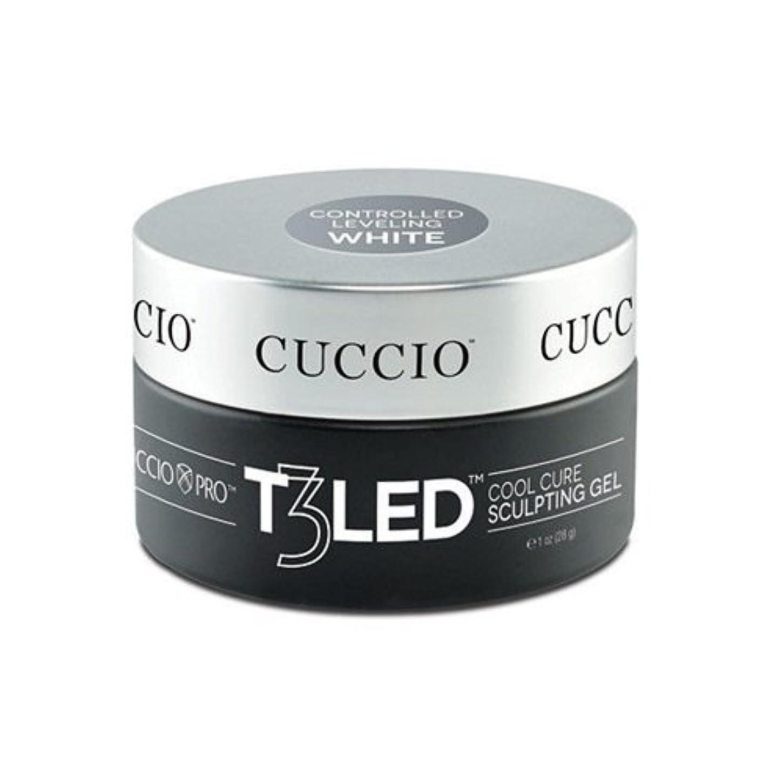 一般的な大西洋速いCuccio Pro - T3 LED/UV Controlled Leveling Gel - White - 2oz / 56g