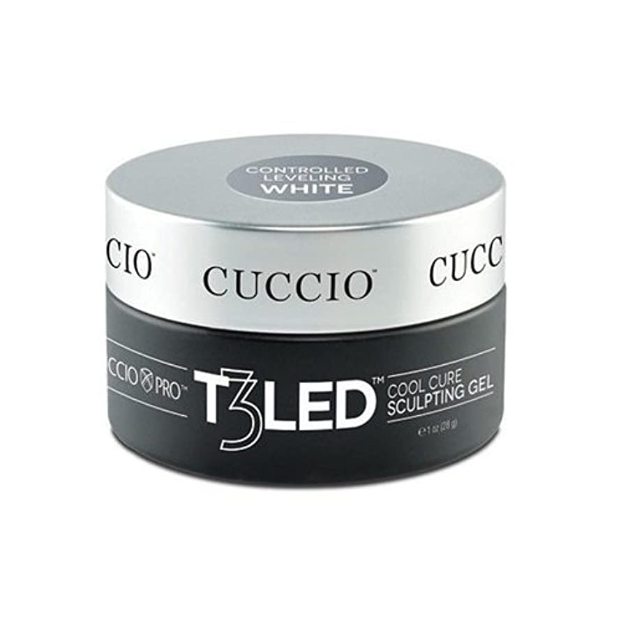 分岐する血まみれの放棄Cuccio Pro - T3 LED/UV Controlled Leveling Gel - White - 2oz / 56g