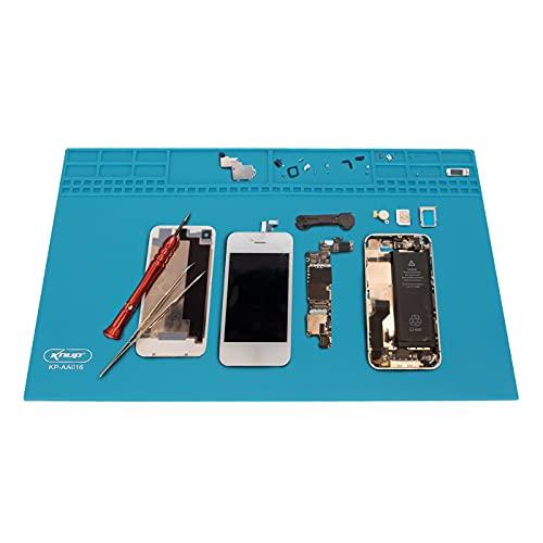 Estação de trabalho Manta Antiestática bancada Magnética para reparo conserto celular Notebook Tablets Silicone 350 x 255mm