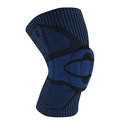 yangGradel 1pc de Tejer Rodilleras Soportes Sports Transpirable Antideslizamiento Rodilla Protector Almohadilla para Baloncesto Voleibol