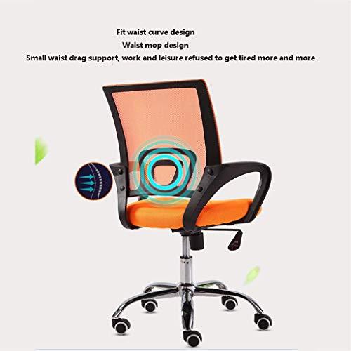 WRISCG G 360 & deg; Chaise d'ordinateur Home Lift Chaise pivotante Chaise de Loisirs en Maille Chaise de Personnel étudiant -4 Couleurs en Option (Couleur: Orange)