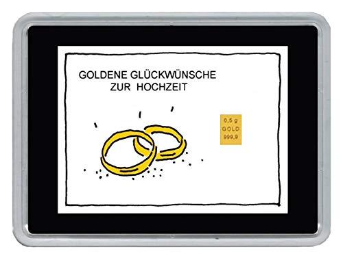 NEU Mini-Goldbarren 0,5 g Feingold in einer Motivbox